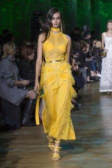 Elie Saab весна лето 2019 желтое платье