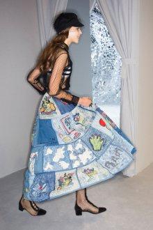 Christian Dior весна лето 2019 джинсовая юбка