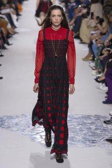 Christian Dior весна лето 2019 сарафан в горошек