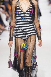Christian Dior весна лето 2019 прозрачное платье с вышивкой