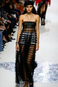 Christian Dior весна лето 2019 платье с воланами