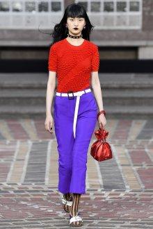 Kenzo весна лето 2018 красная блузка