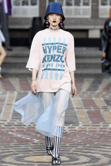 Kenzo весна лето 2018 прозрачная юбка