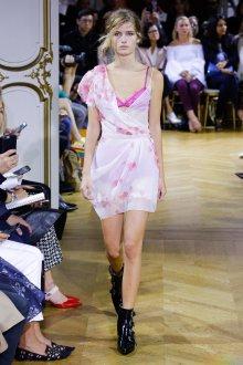 John Galliano весна лето 2018 шифоновое платье