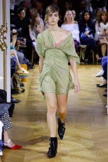 John Galliano весна лето 2018 зеленое платье