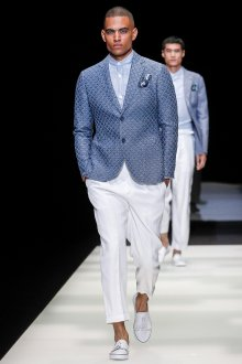 Giorgio Armani весна лето 2019 мужской пиджак