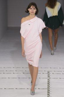 Lacoste весна лето 2019 розовое платье поло