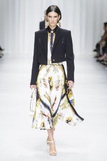 Versace весна лето 2018 черный жакет