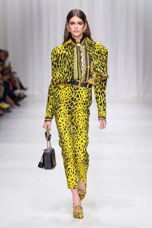 Versace весна лето 2018 леопардовый принт