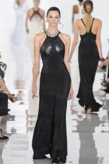 Roberto Cavalli весна лето 2018 платье с кожаными вставками