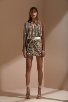 Roberto Cavalli круизная коллекция 2019 асимметричное платье