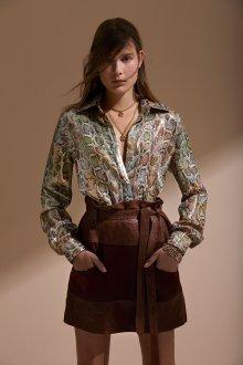 Roberto Cavalli круизная коллекция 2019 блузка с принтом