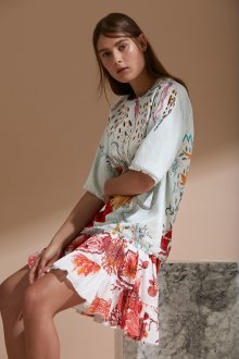 Roberto Cavalli круизная коллекция 2019 платье с принтом