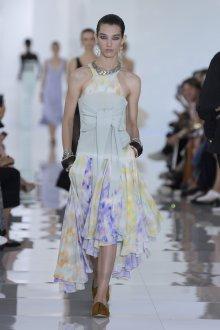 Roberto Cavalli весна лето 2019 шифоновое платье