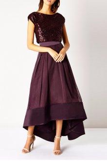 Бордовая юбка асимметричная