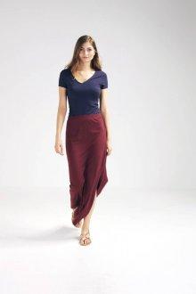 Бордовая юбка длинная