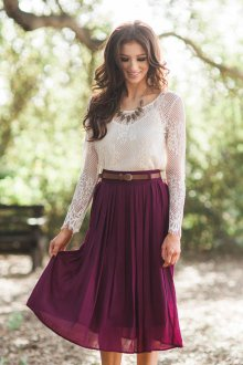 Бордово-фиолетовая юбка