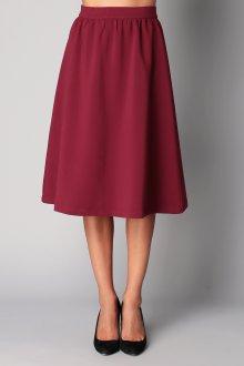Бордовая юбка колокол