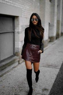 Бордово-коричневая юбка