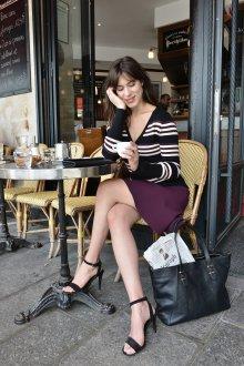 Бордовая юбка короткая