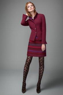 Бордовая юбка в полоску
