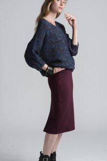 Темно-бордовая юбка