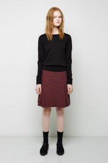 Бордовая юбка твидовая