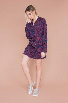 Бордовая юбка с узором