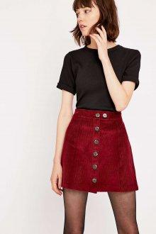 Бордовая юбка из вельвета