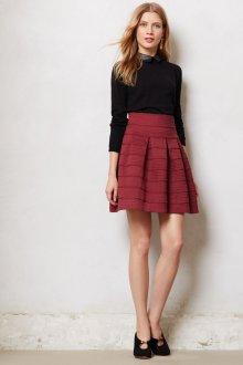 Бордовая юбка вязаная