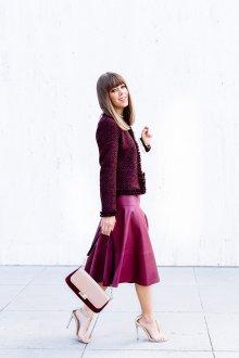 Бордовая юбка яркая