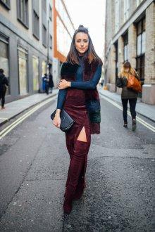 Бордовая юбка зимняя