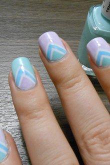 Пастельный маникюр на квадратные ногти