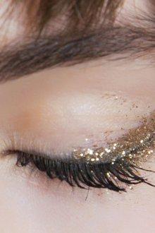 Золотой макияж для азиатского разреза глаз