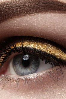 Золотой макияж металлик