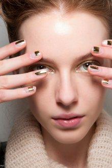 Золотой макияж нанесение