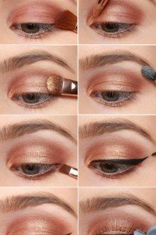 Золотой макияж пошагово