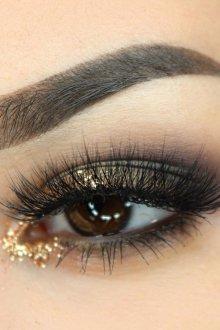 Золотой макияж вечерний