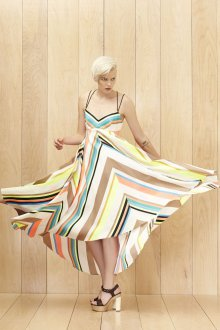 Платье трапеция в полоску