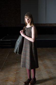 Платье трапеция твидовое