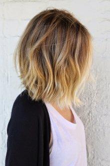 Стрижка на средние волосы 2019 окрашивание