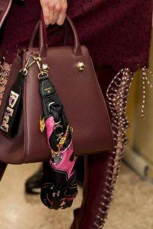 Кожаная сумка женская бордовая