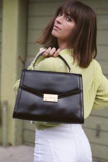 Кожаная сумка женская классическая