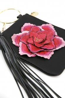 Кожаная сумка женская в виде цветка