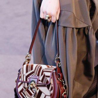Кожаная сумка женская с геометрическим принтом