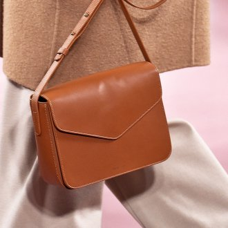 Кожаная сумка женская маленькая терракотовая