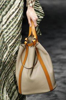 Кожаная сумка мешок серая