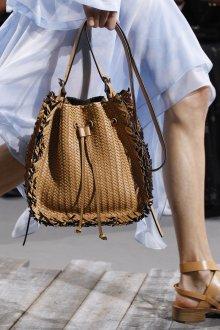 Кожаная сумка женская плетеная