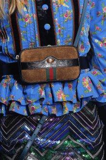 Кожаная сумка женская на пояс замшевая