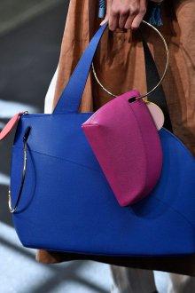 Кожаная сумка женская синяя